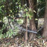 Mangled fence line